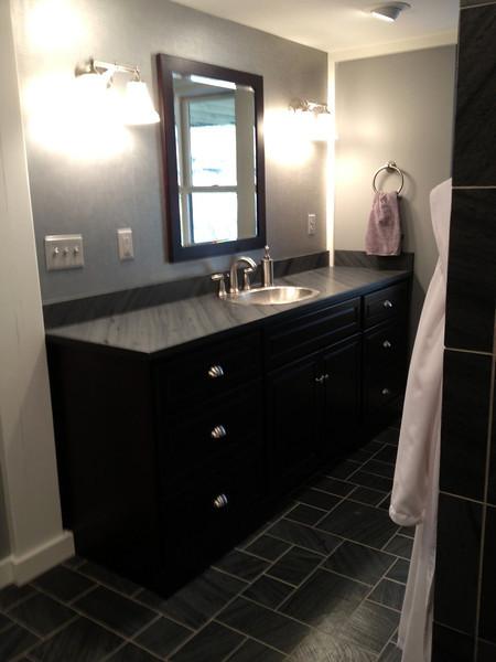 Shadow Gray Honed Vanity Pattern #1 Floor
