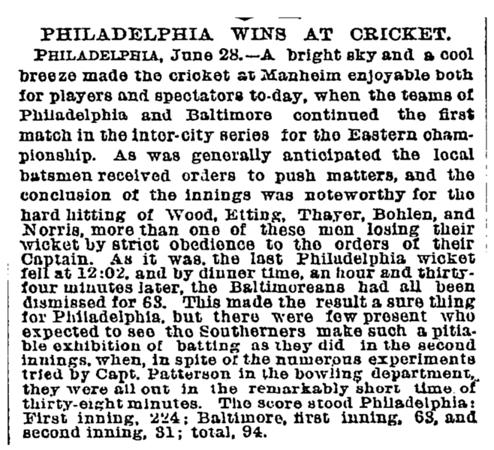 Eastern  Championship  - Phila vs Baltimore June 1892