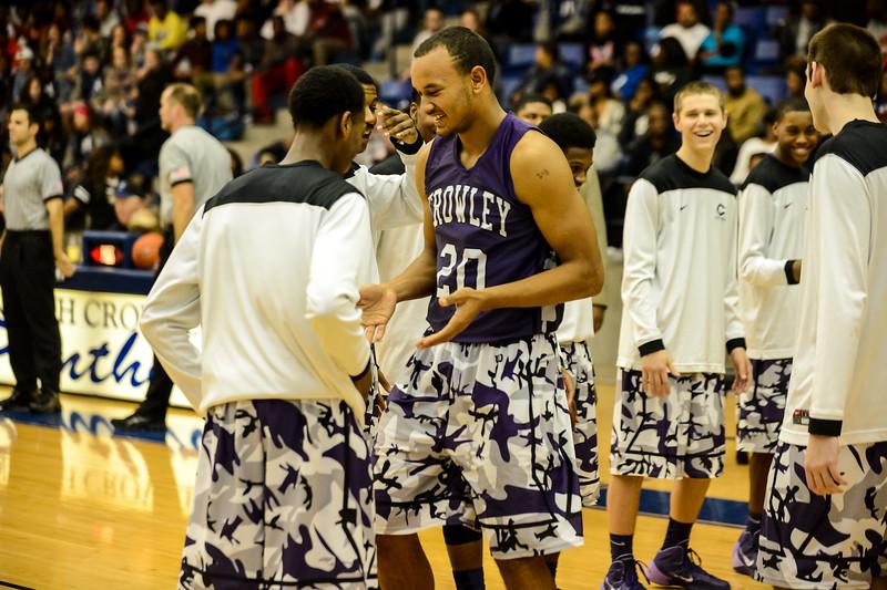 Basketball Varsity Boys vs  Crowley 12-11-13-21