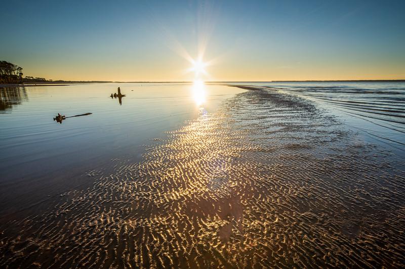 Beach in Apalachicola at Sunrise