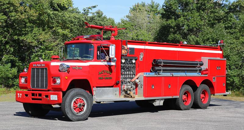 Tanker 7   1986 Mack R / 3D   1500 / 3000 / 100F