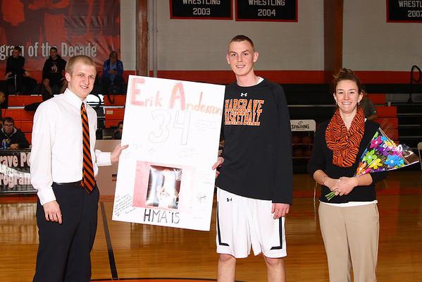 Senior Night & Varsity Basketball v Covenant School