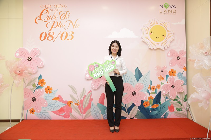 Novaland Group   CMT8 Office Women's Day March 8 instant print photo booth   Chụp hình lấy liền Quốc tế Phụ Nữ 8 Tháng 3   Photobooth Saigon