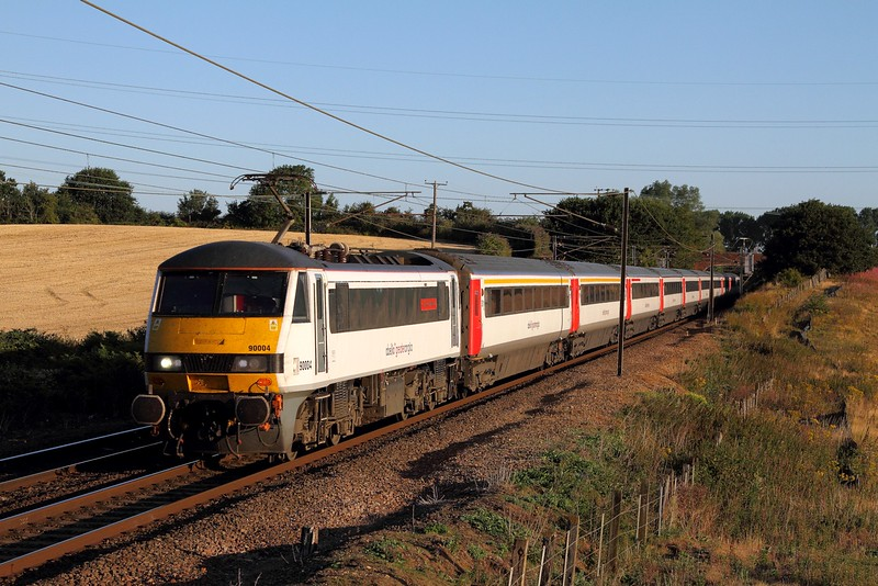 90004 on the 1P05 0600 Norwich to London Liverpool Street at Baylham on the 4th August 2015.JPG