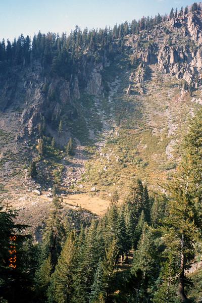 View of ridge slope near beginning of trail.