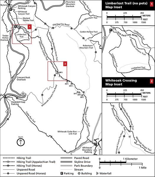 Shenandoah National Park (Trails - Whiteoak Canyon Area)