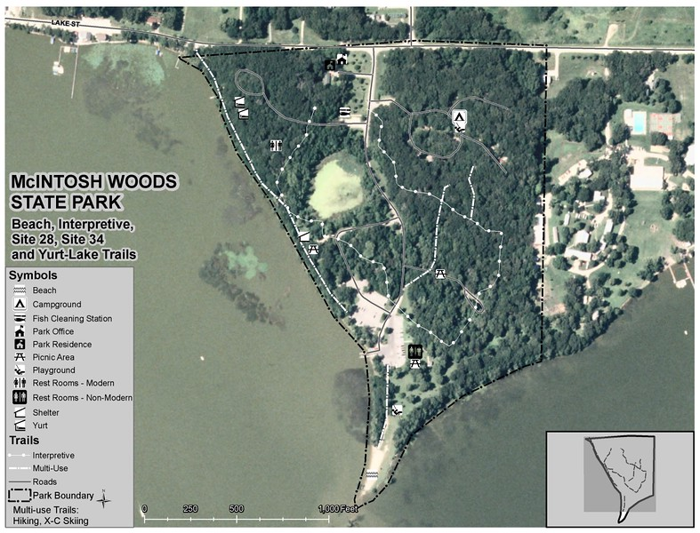 McIntosh Woods State Park (Trail Map)