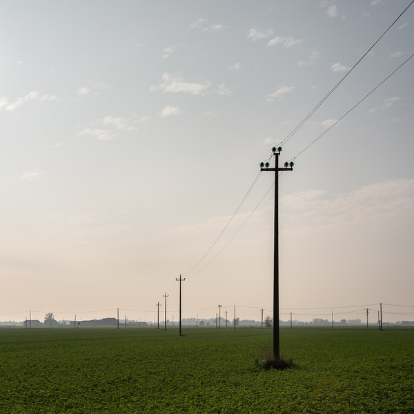 Power Lines - Somewhere in Emilia, Italy - October 27, 2015