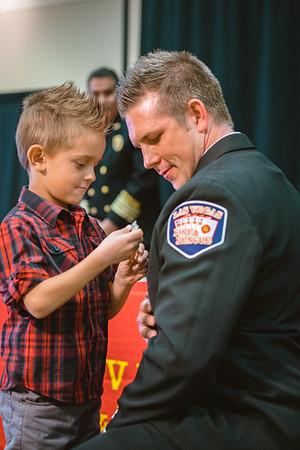 2015-12-15 Badge Pinning Ceremony