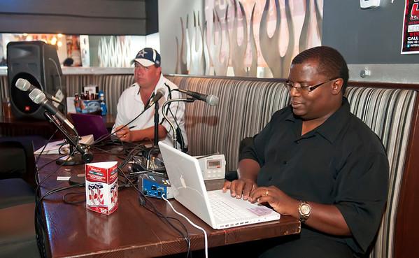 Big Pat & Steve Sports Radio Show @ Nix Burgers Interview Fred Whitfield & Chris Canty 6-15-11 by Jon Strayhorn