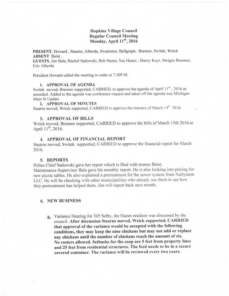 April 2016 Meeting Minutes pg 1