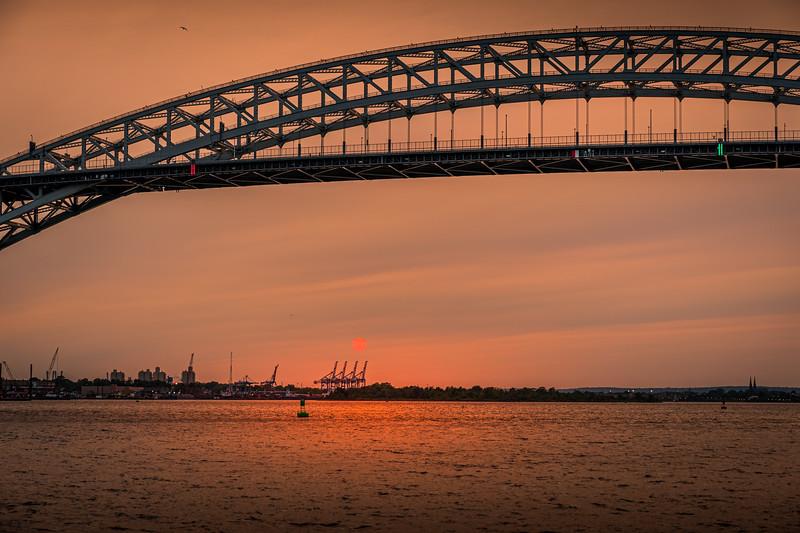 Sunset Bayonne Bridge