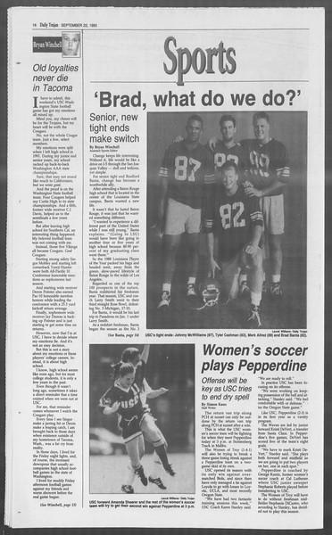 Daily Trojan, Vol. 121, No. 16, September 22, 1993