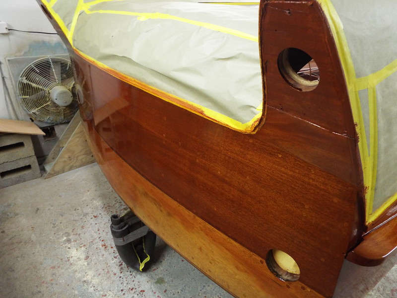 Transom finished the same as the deck.