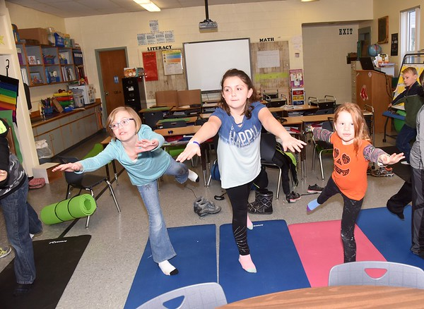 Third Grade Yoga Break photos by Gary Baker