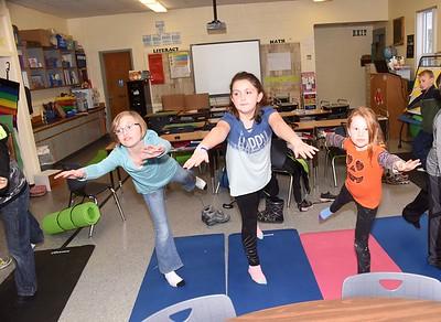 Third Grade Yoga Break photos by Gary Baker