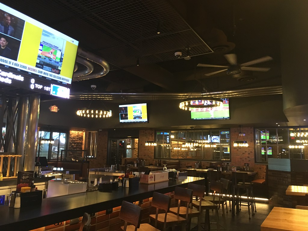 . Kevin Martin � The Morning Journal <br> B-Lux Grill and Bar opened on July 1 in a completely remodeled space with a new bar, sports ticker, 26 televisions and a menu featuring gourmet burgers, fries, shakes and more.