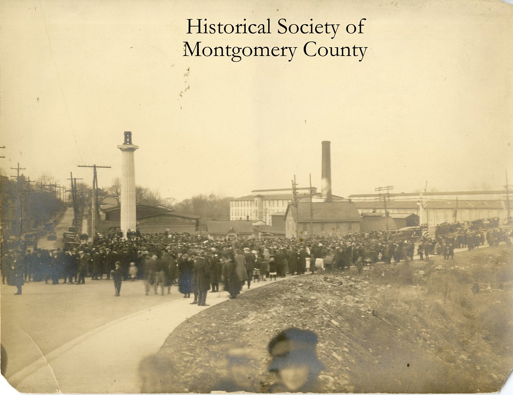 . This is an undated photo of West Conshohocken from the Historical Society of Montgomery County.