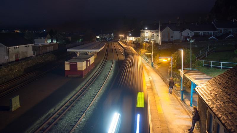 The train at Blaenau Ffestiniog