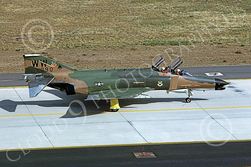 F-4USAF 00263 A taxing McDonnell Douglas F-4G Phantom II USAF 69290 Wild Weasel WW code George AFB 10-1981 military airplane picture by Michael Grove. Sr..JPG