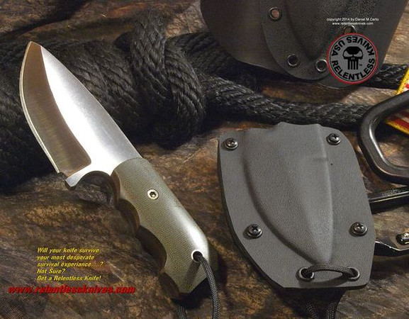 Relentless Knives M1 Midget Military Survival knife