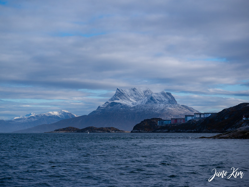 A view of Sermitsiaq (Saddle Mountain) and Nuuk