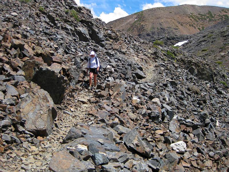 Following easy trail trough the rocks.