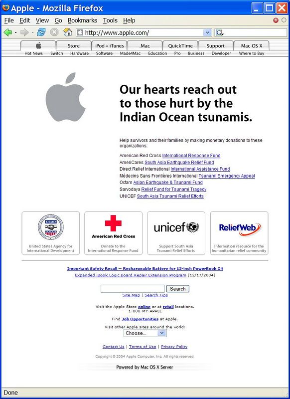 2004-12-30_Apple_Home_Page_For_Tsunami_Relief.JPG