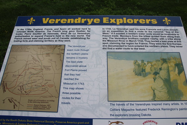 Verendrye Site:  French claims in 1743