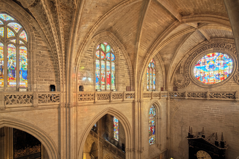Gothic ceiling, Santa Maria de la Sede Cathedral, Seville, Spain