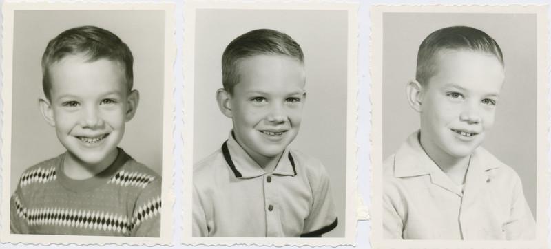 L to R, Kindergarten 1959, grade 1 1960, grade 2 1961