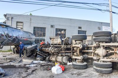 Neville Island truck crash Neville Road
