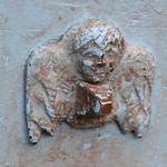 Cherub hardware on church door, Pisac, Peru