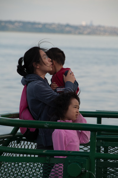I think these kids are ready to get off the ferry.
