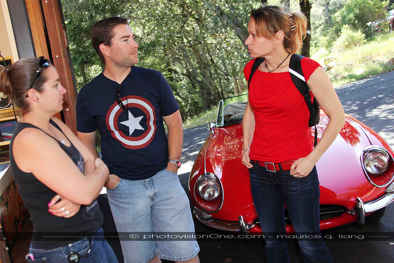 Nikki, John, and Hana.  No, they're not Gullwing owners...  just fans.
