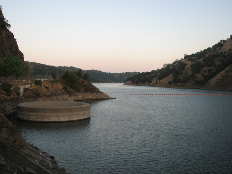 Lake Berryessa and the glory hole spillway.