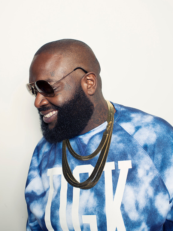 ". Rapper Rick Ross poses for a portrait at Def Jam in promotion of his upcoming album ""Hood Billionaire\"" on Tuesday, Nov. 11, 2014 in New York. (Photo by Victoria Will/Invision/AP)"