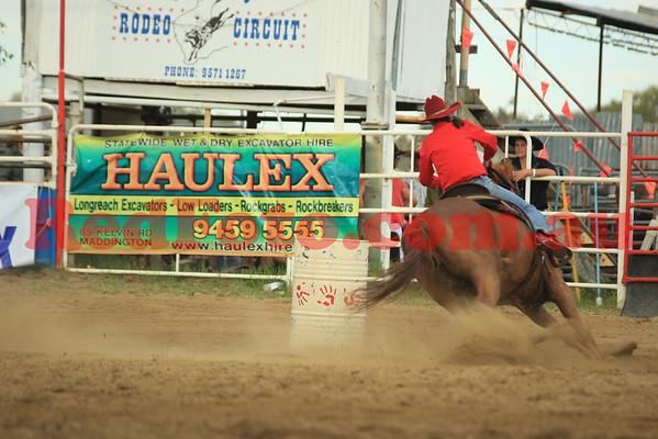 2012 12 31 New Years Rodeo Stampede Arena Barrel Racing