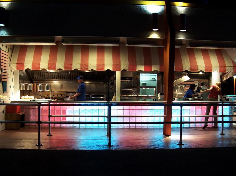 Be-Bop Diner at night.