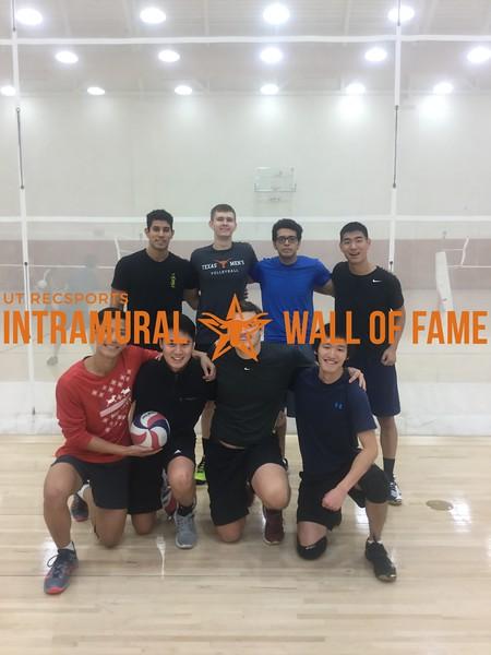 Fall 2017 Volleyball Men's Champion Volley Llamas