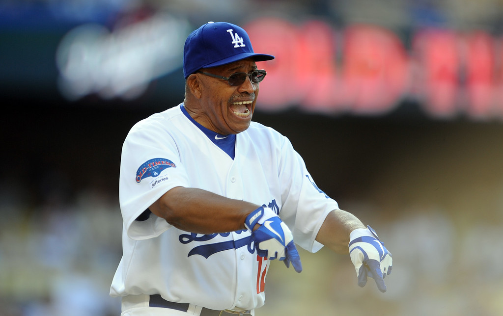 . Former Los Angeles Dodgers Tommy Davis during the Old-Timers game prior to a baseball game between the Atlanta Braves and the Los Angeles Dodgers on Saturday, June 8, 2013 in Los Angeles.   (Keith Birmingham/Pasadena Star-News)