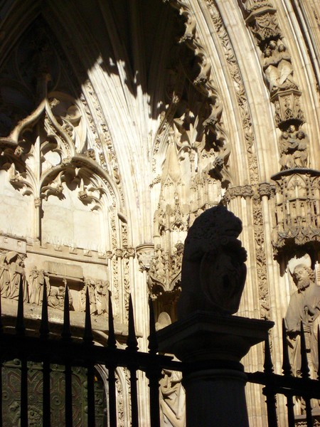 Ornate entrance to Toledo Cathedral.
