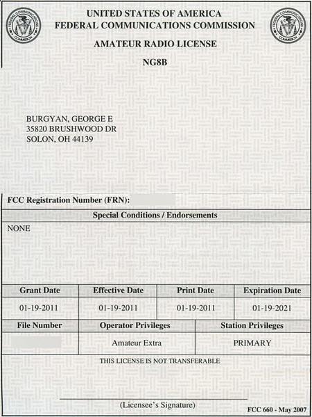 NG8B License Grant