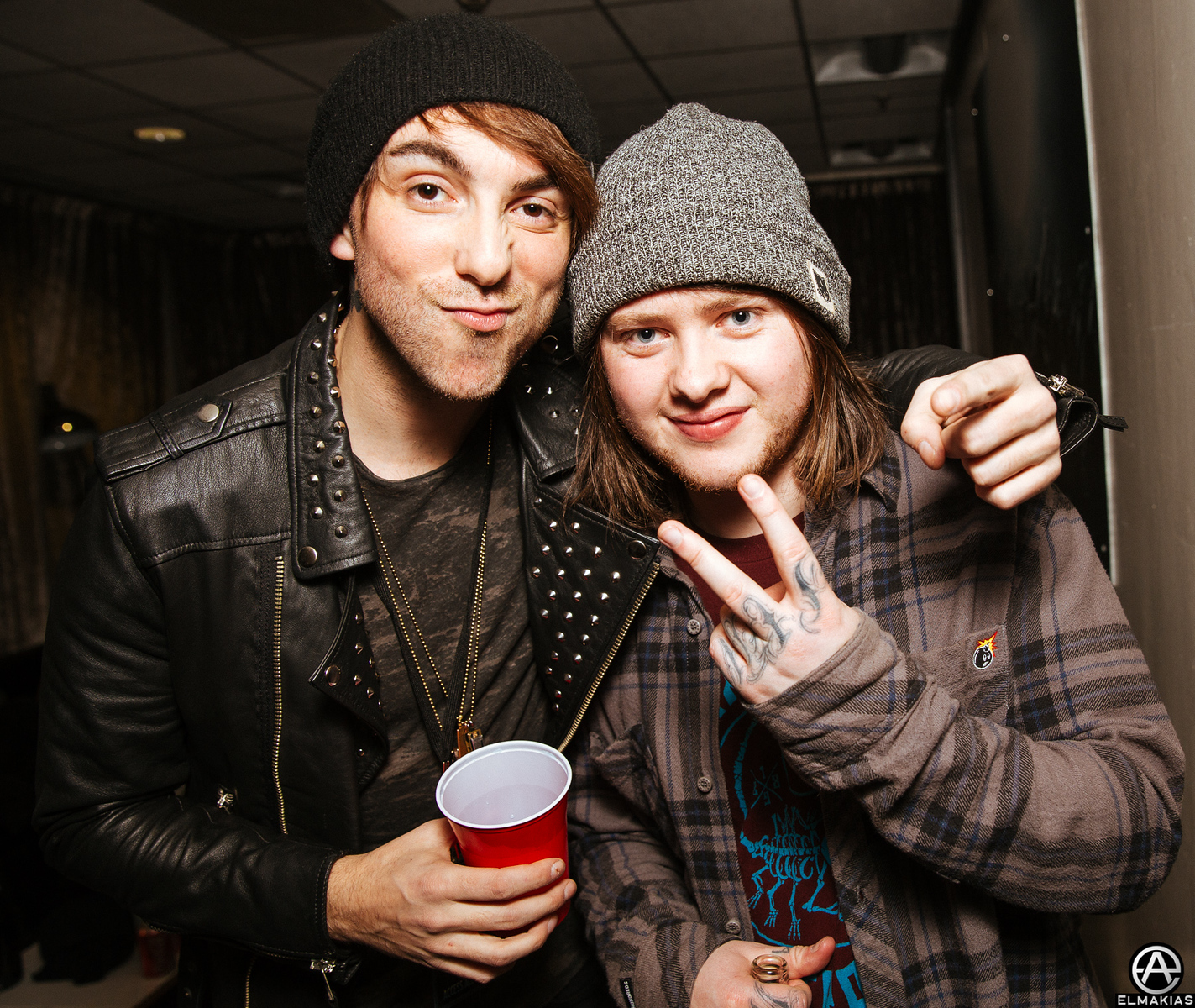 Alex with Lee of Bring Me The Horizon
