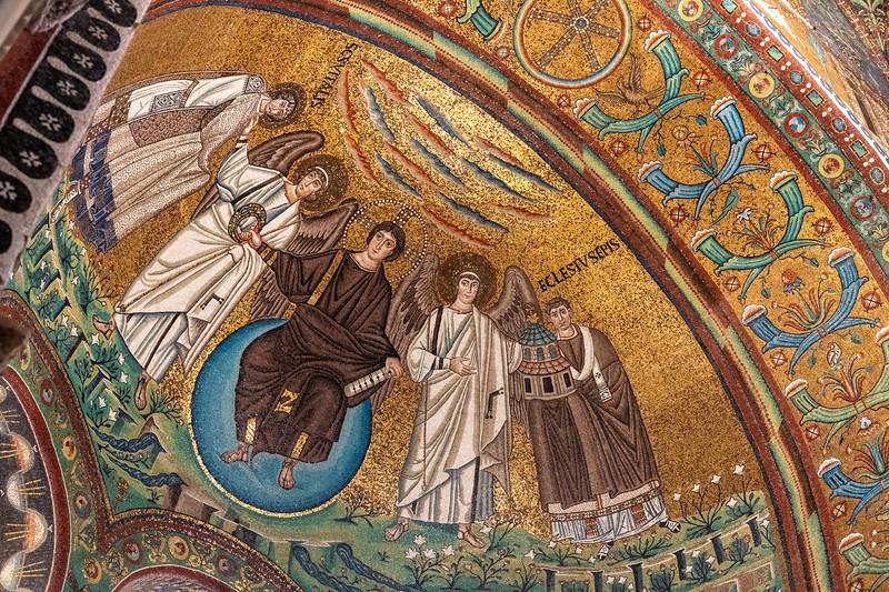 Mosaic inside Basilica of San Vitale in Ravenna