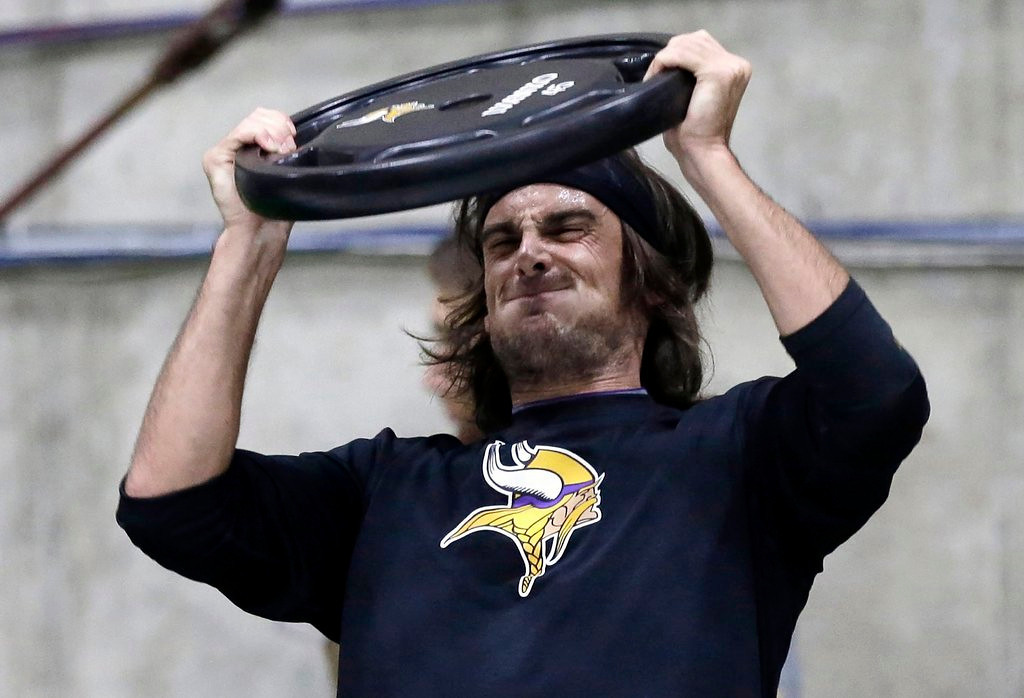 ". <p>8. (tie) CHRIS KLUWE <p>Only one Marquette King injury from extending his NFL career. (1) <p><b><a href=\'http://www.twincities.com/sports/ci_23907407/chris-kluwe-former-viking-losing-battle-be-raiders\' target=""_blank\""> HUH?</a></b> <p>     (AP Photo/Jim Mone)"