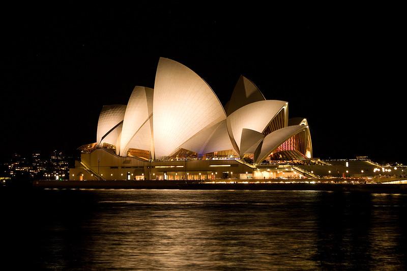 Sydney Opernhaus bei Nacht