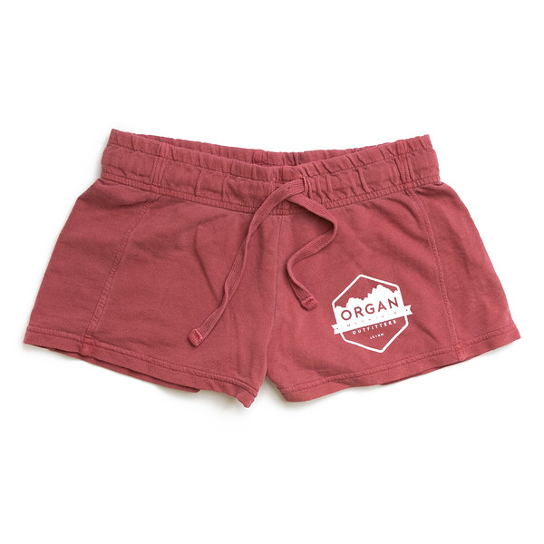 Organ Mountain Outfitters - Outdoor Apparel - Womens - French Terry Shorts - Crimson.jpg
