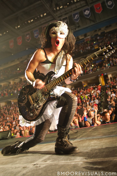 Korey Cooper of Skillet performs on January 14, 2012 at Tampa Bay Times Forum during Winter Jam in Tampa, Florida
