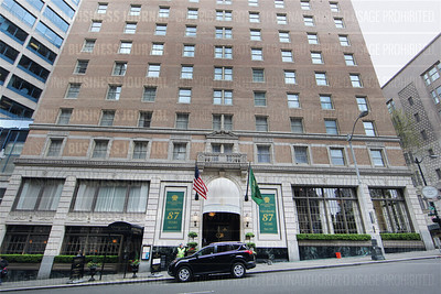 The historic Mayflower Hotel at 405 Olive Way in Seattle, Washington is pictured on April 13, 2015.